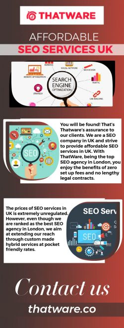 Affordable SEO Services UK – Thatware LLP