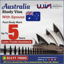 Australia Study Visa With Post Study Work Up To 5 Years