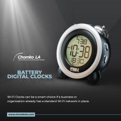 Best Wireless Battery Digital Clocks in USA | Chomko LA