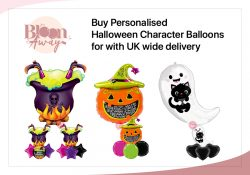 Buy Personalised Halloween Character Balloons for with UK wide Delivery