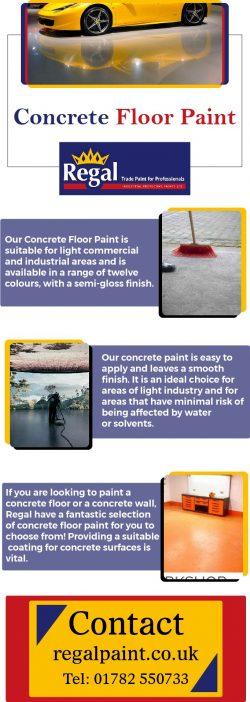 Buy Single Pack Concrete Floor Paint At RegalPaint