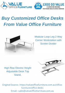 Buy Customized Office Desks From Value Office Furniture