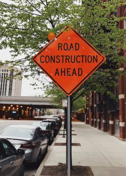 Construction Signs in Detroit