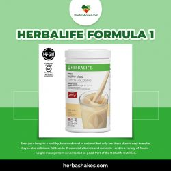 Consume the Herbalife Formula 1 and Stay Fit with Herbashakes