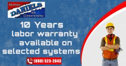 10 Years Labor Warranty Available On Selected Systems