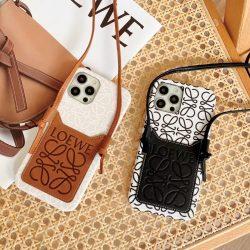 ロエベ iPhone13 Proケース ショルダースマホケース チェーンストラップ付き iPhone13ケース LOEWE iPh ...
