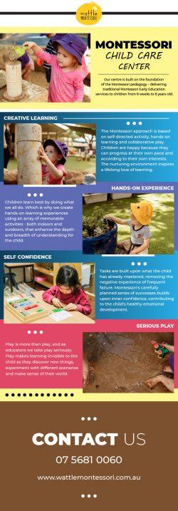 Experienced Child Care Center In Coomera – Wattle Montessori
