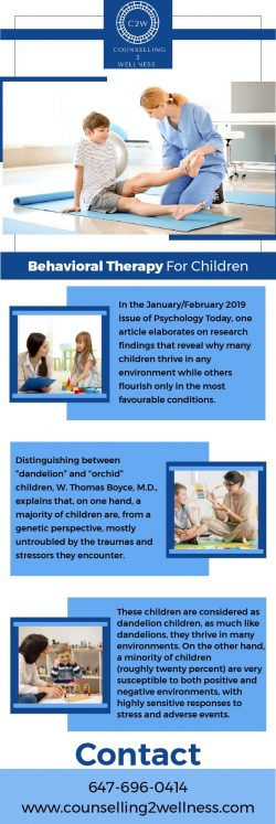 Get Behavioral Therapy For Kids At Counselling2Wellness