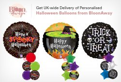 Get UK-wide Delivery of Personalised Halloween Balloons from BloonAway