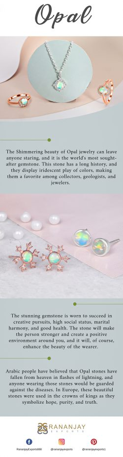 Gemstone Opal Jewelry With Multiple Color