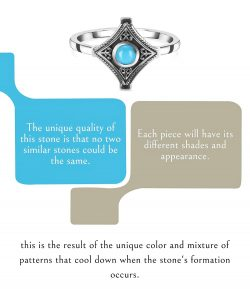 Beautiful Larimar Stone Ring-The Christmas Gift For Her