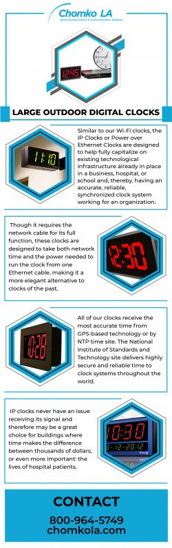 Top Quality Large Outdoor Digital Clocks in USA | Chomko LA