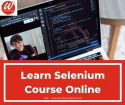 Learn Selenium Course Online