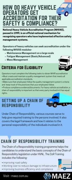 How Do Heavy Vehicle Operators Get Accreditation For Their Safety & Compliance