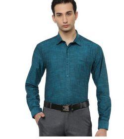 Mens Formal Shirt Full Sleeves Dark Cyan CL2 GT12
