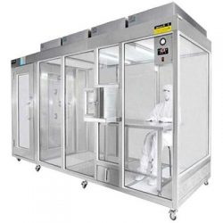 The modular cleanroom system is flexible and economical.