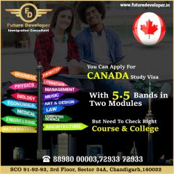 Canada Study Visa With 5.5 Bands in Two Two Modules