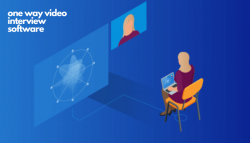 One way video interview software