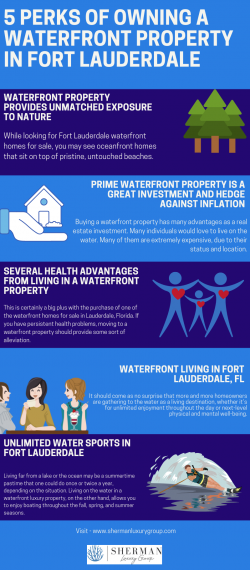 5 Perks of Owning a Waterfront Property in Fort Lauderdale