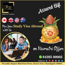 Plan Your Study Visa Abroad With Us – Assured Gift -Navratri Offer