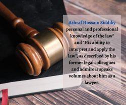Professional Lawyer in the Canada || Ashraf Hossain Siddiky