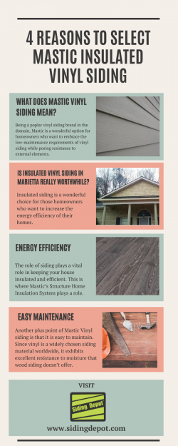4 Reasons to Select Mastic Insulated Vinyl Siding