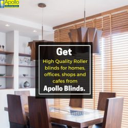 Roller blinds from Apollo Blinds