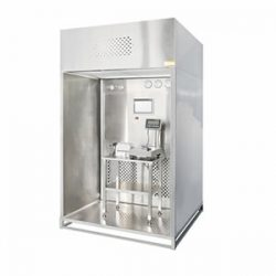 Purification system for cleaning material