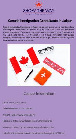 Best Canada Immigration Consultants in Jaipur