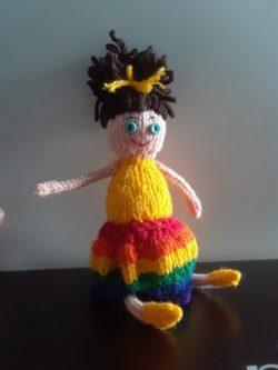 Handmade Pride Rainbow Doll Lily
