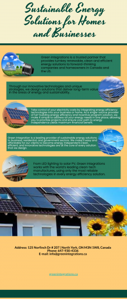 Sustainable Energy Solutions for Homes and Businesses