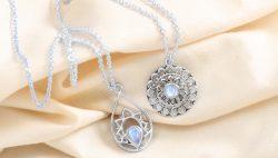 Genuine Sterling Silver Moonstone Jewelry