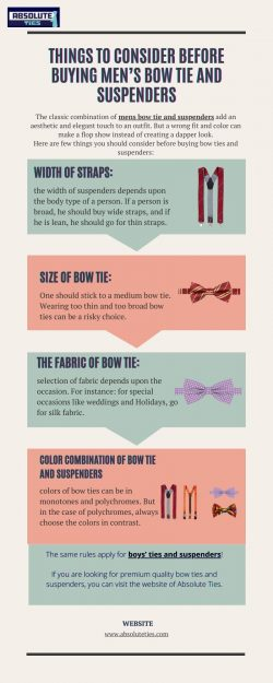 Things To Consider Before Buying Men's Bow Tie and Suspenders