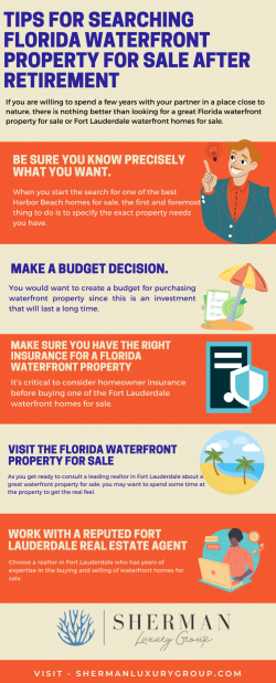 Tips for Searching Florida Waterfront Property For Sale After Retirement