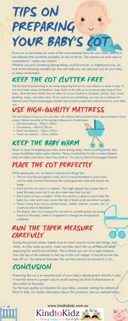 Tips on preparing your baby's cot