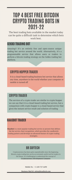 Top 4 Best Free Bitcoin Crypto Trading Bots in 2021-22