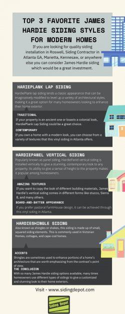Top 3 Favorite James Hardie Siding Styles for Modern Homes