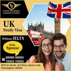 UK study visa without IELTS/PTE – With Spouse