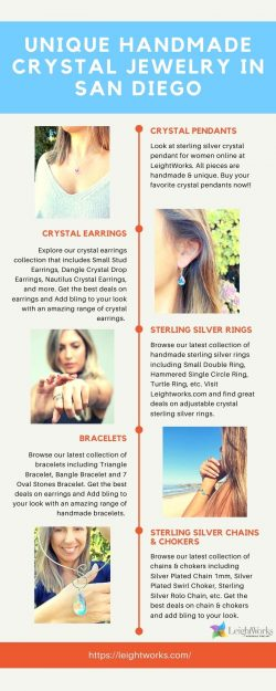 Unique Handmade Crystal Jewelry in San Diego