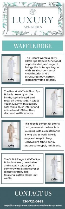 Buy Waffle Bathrobe Online from Luxury Spa Robes