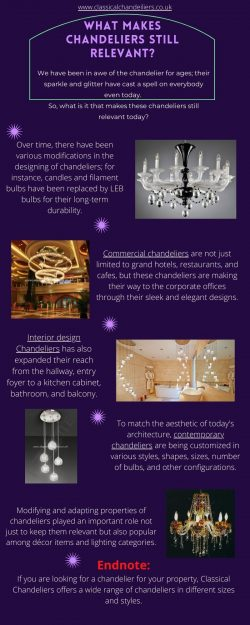 What makes Chandeliers Still Relevant?
