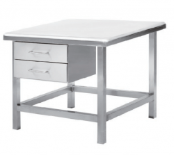 Cleanroom table, clean workbench, and workstation