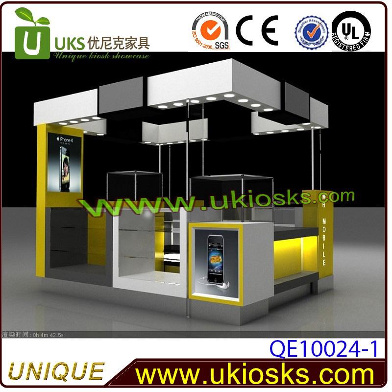 Shopping mall cell phone kiosk