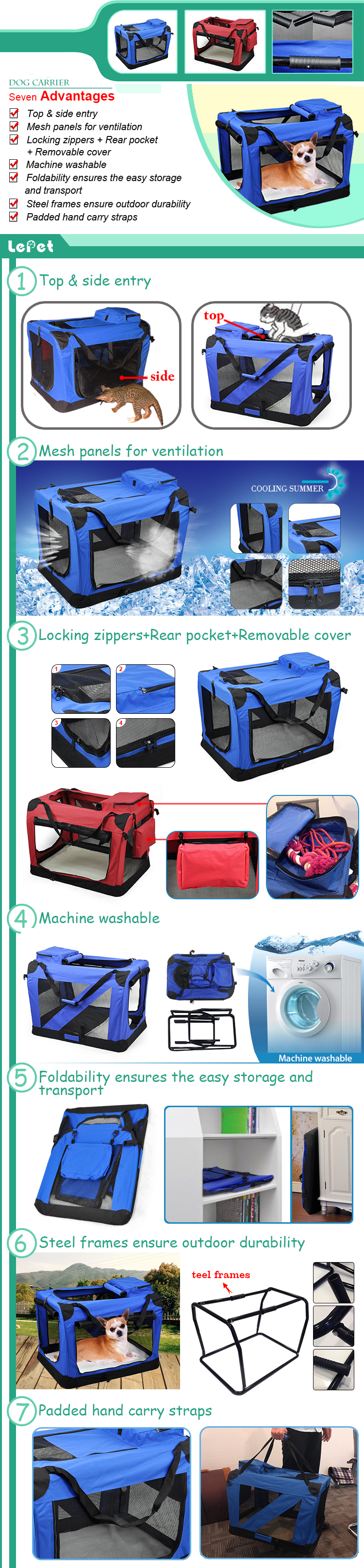 Soft-Sided Pet Carrier Bag