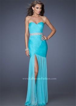 2015 Cheap Strapless Aquamarine Bodice Long Designer Prom Dresses [la femme 19764] – $212. ...