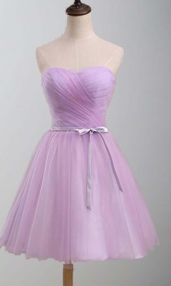 Lavender Sweetheart Bow Knot Short Hoco Dresses KSP381 [KSP381] – £82.00