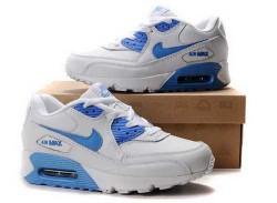 Men's Nike Air Max 90 Grey/Blue X6C235,Air Max,Jordans For Sale,Jordans For Cheap,Nike Air ...