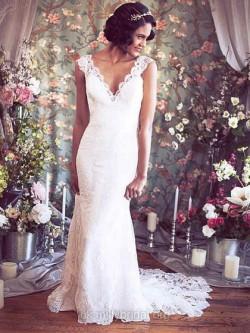 Romantic Beach Wedding Dresses UK – dressfashion.co.uk