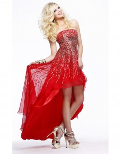 2014 Sherri Hill 8300 Gold Red Prom Dresses [dress1032] – $194.00 : Prom Dresses New York  ...