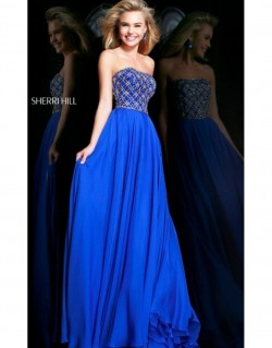2014 Sherri Hill 11107 Royal Prom Dresses [dress1435] – $219.00 : Prom Dresses New York &# ...